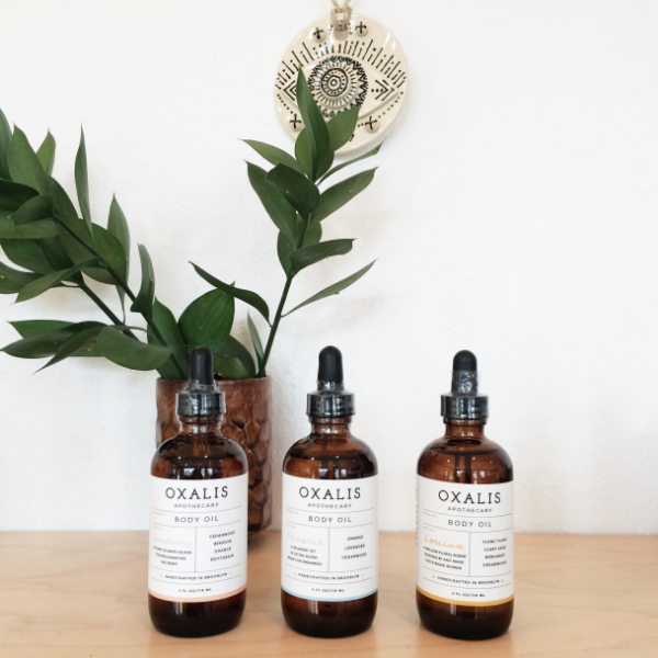 Oxalis Sanctuary, Reverie, & Louisa body oils