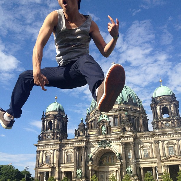 James got hops #berlin #germany #nationalcathedral #chillin #nofilter #sunny #jump