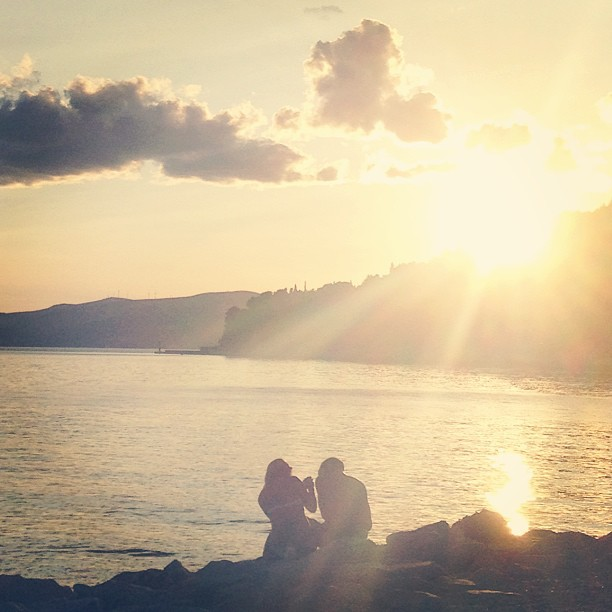 A state of perfect. #croatia #split #beach #sunset #eurotrip #love #oneness