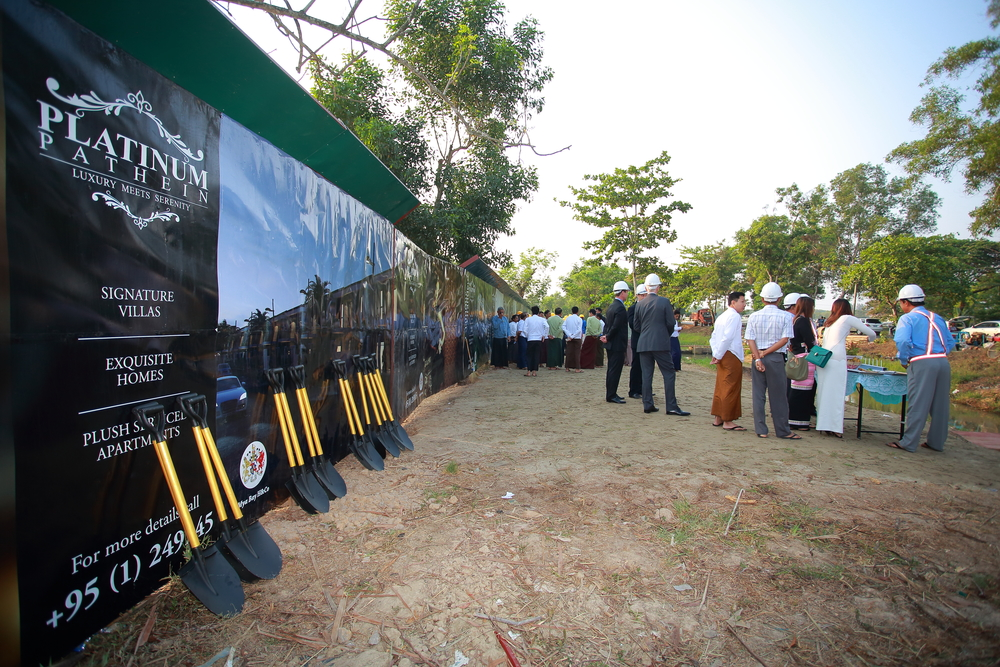 Platinum Pathein groundbreaking ceremony