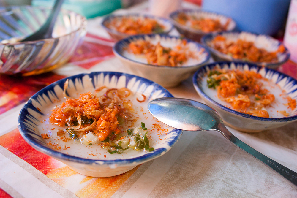 Bánh bèo - a very popular street dish in Ho Chi Minh City, Viet Nam