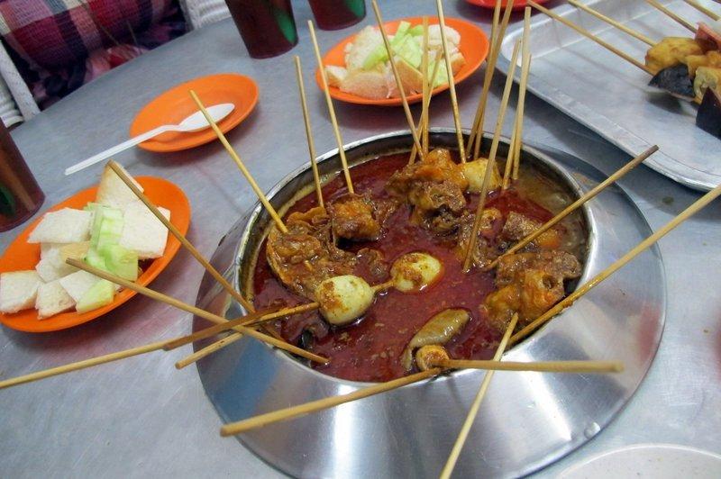 Satay Celup in Malacca, Malaysia