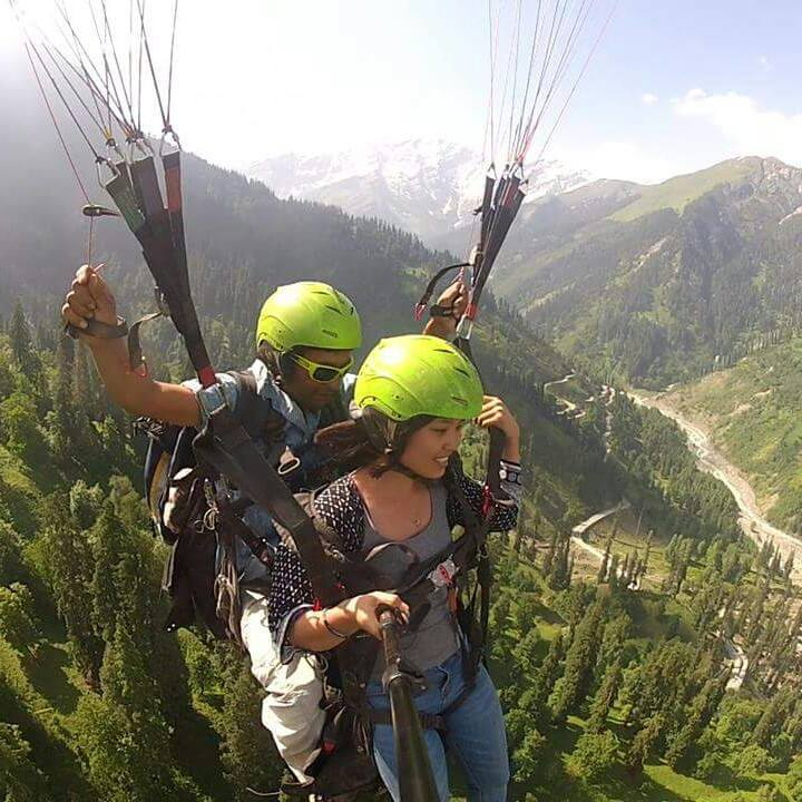 Paragliding in Manali, Northern India