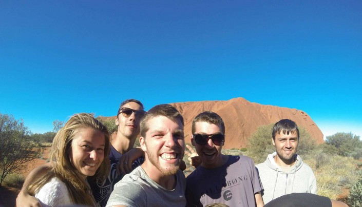 Hiking in the Outback with mates