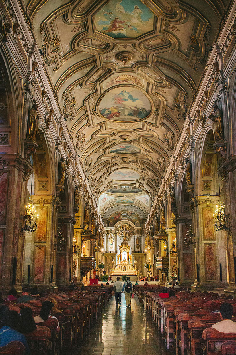Interior of Catedral Metropolitana de Santiago