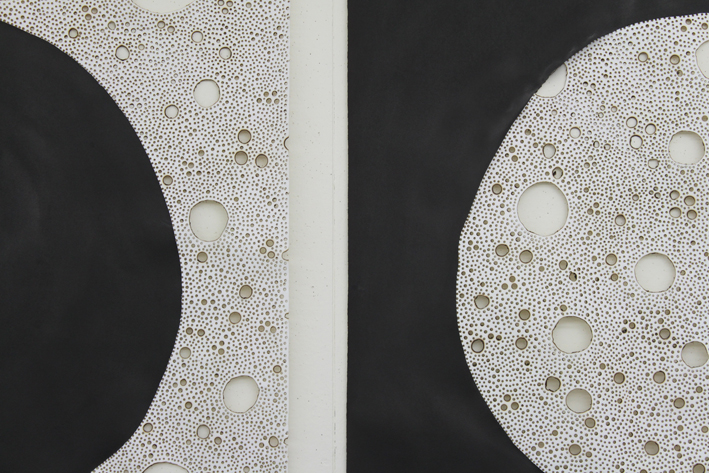 Sol Niger (detail), 2012. Ink and burns on paper. 114 x 240 cm
