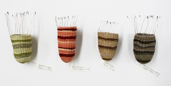 Held Mysteries, 2017. plant-dyed wool, silk and hemp