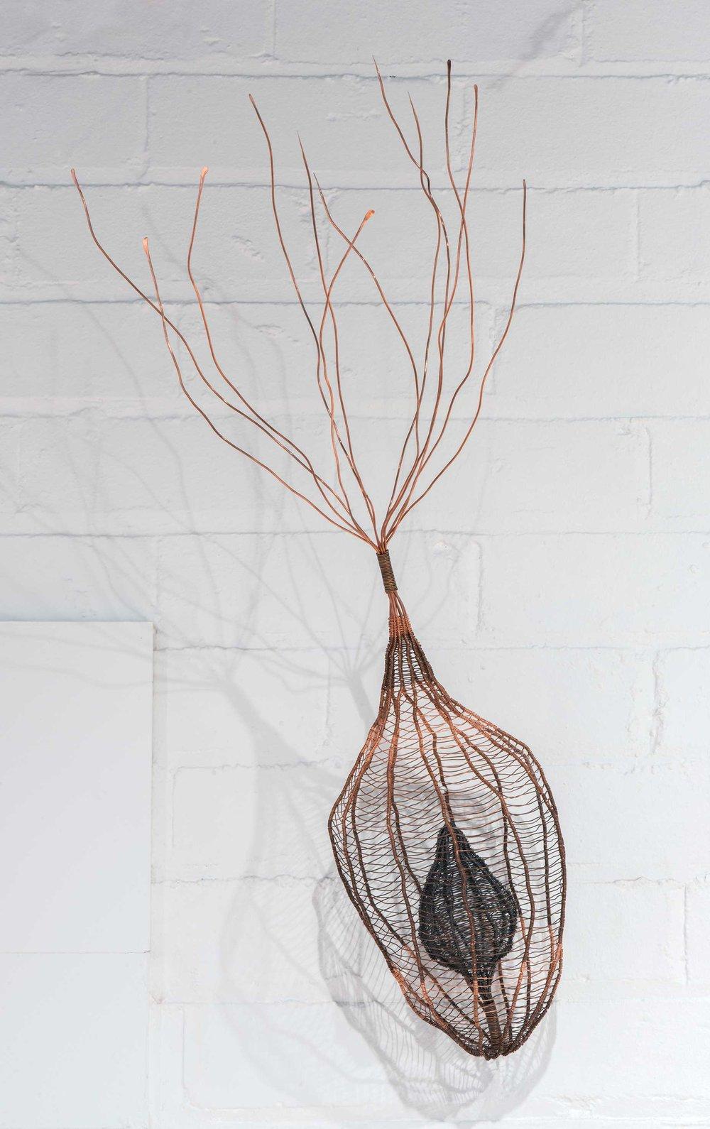 Regeneration,  patinated copper wire. Photo: Brenton McGeachie