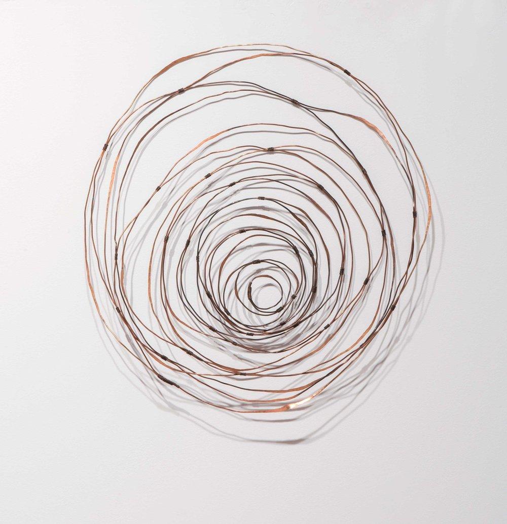 Spiralling Seasons,  patinated copper wire. Photo: Brenton McGeachie