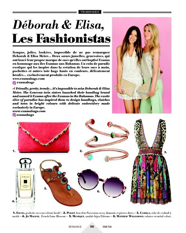 Thank you Les Voiles magazine for featuring us & our coco coral clutch💖💙💚💜@cotemagazineswitzerland @lesvoilesgeneve