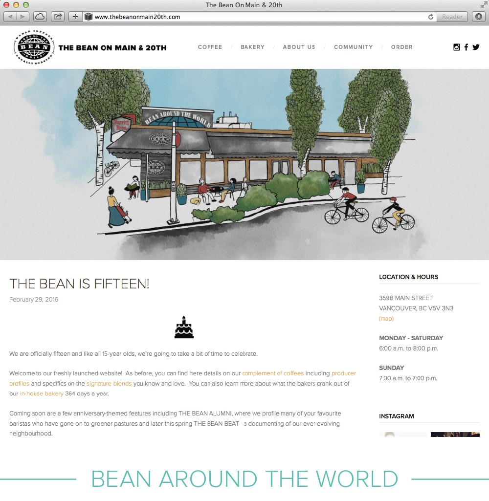 Digital design: Bean Anniversary