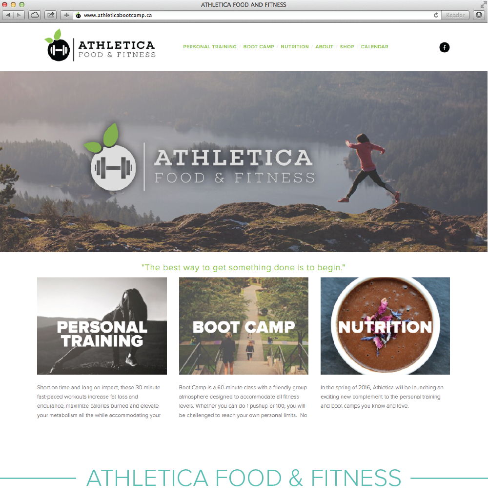 Digital design: Athletica Food & Fitness
