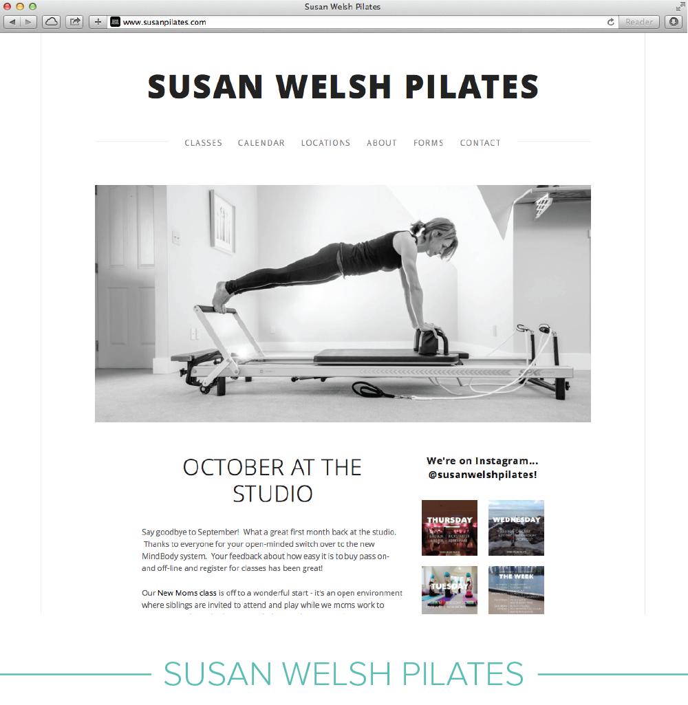 Digital design: Susan Welsh Pilates