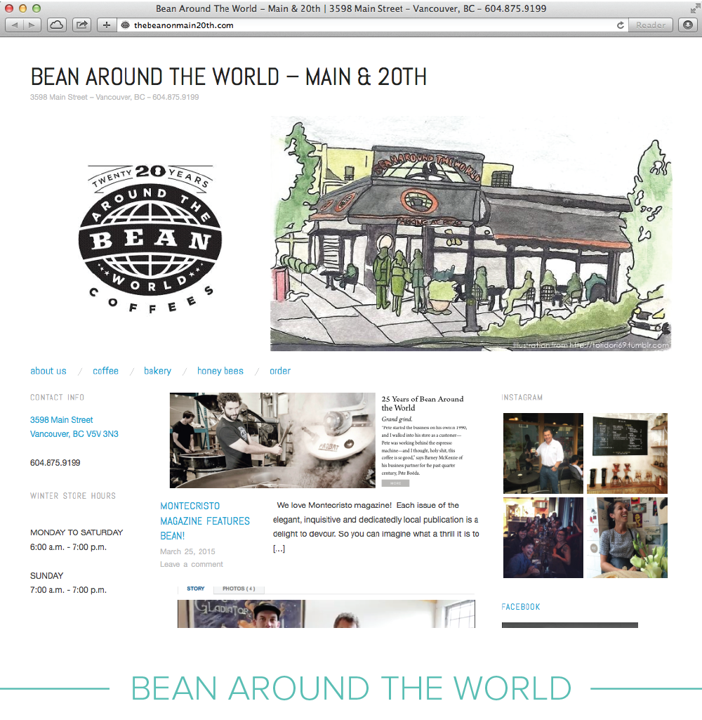Digital design: Bean Around The World