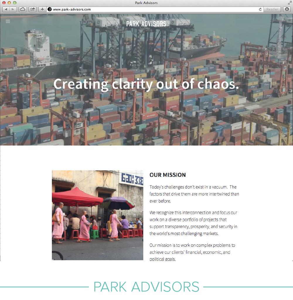Digital design: Park Advisors