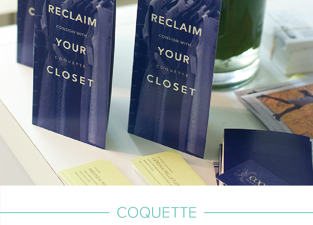 Retail promotional & print design: Coquette