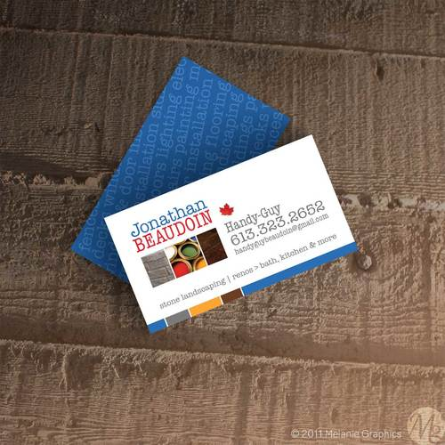 Melanie graphics web print graphic design services card design handyman business cards reheart Gallery