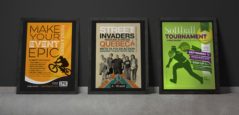 3posters-epicbike-streetinvaders-softball