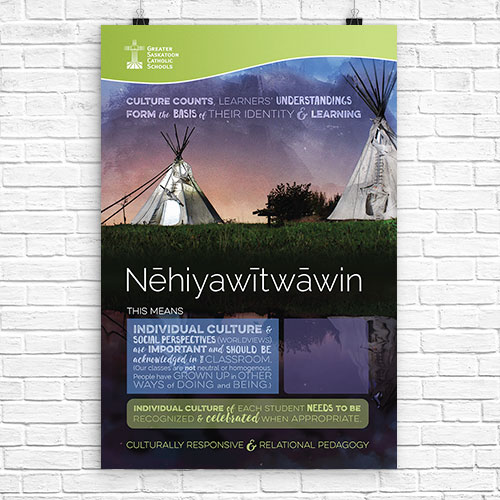 Nēhiyawītwāwi (Cree) Culturally Responsive and Relational Pedagogy Culture counts, learners' understandings form the basis of their identity and learning. Image: tipi