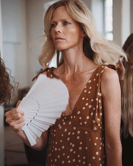 Marianne Schrøder in the lineup #lovechild1979 💥 #ss19 #icondenmark #organichairspa #ellisfaascosmetics #eenkobenhavn