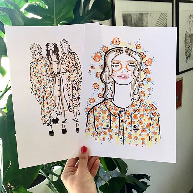 We simply love these drawings of our SS19 show by @cinarosenarts 😍💖 thank you for sharing 🙏🏼. #cphfw18 #SS19