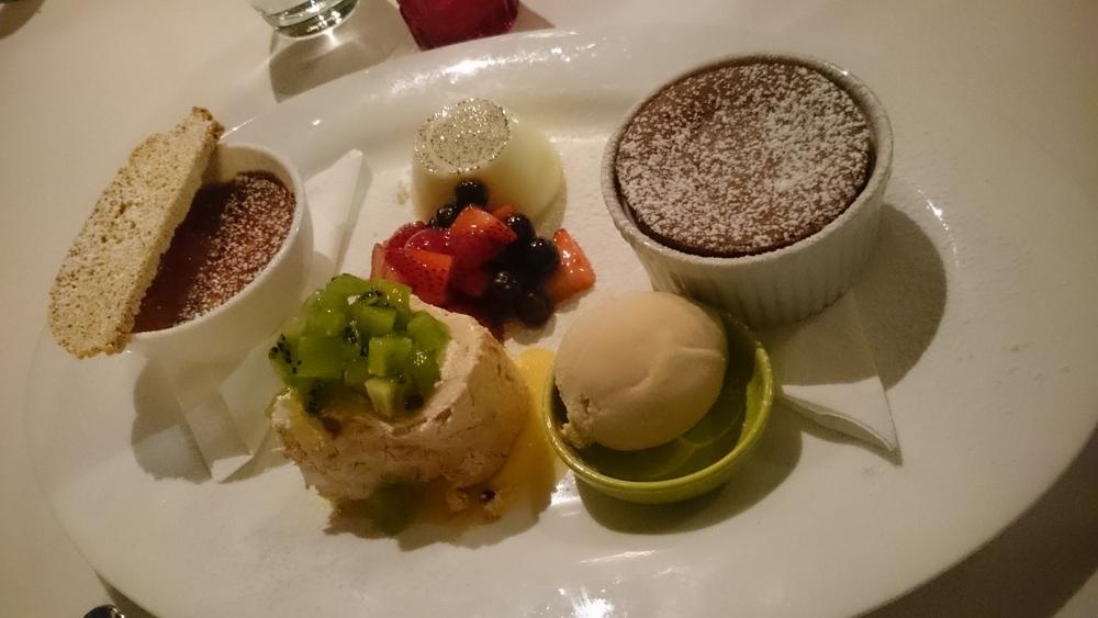 Dessert platter at Mikano