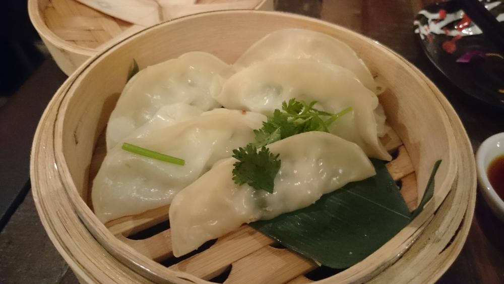Steamed gyoza at Ramen Takara