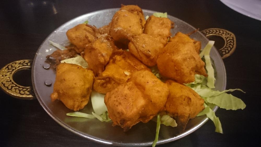 Fried paneer, Raviz on Hobson Street, Auckland.