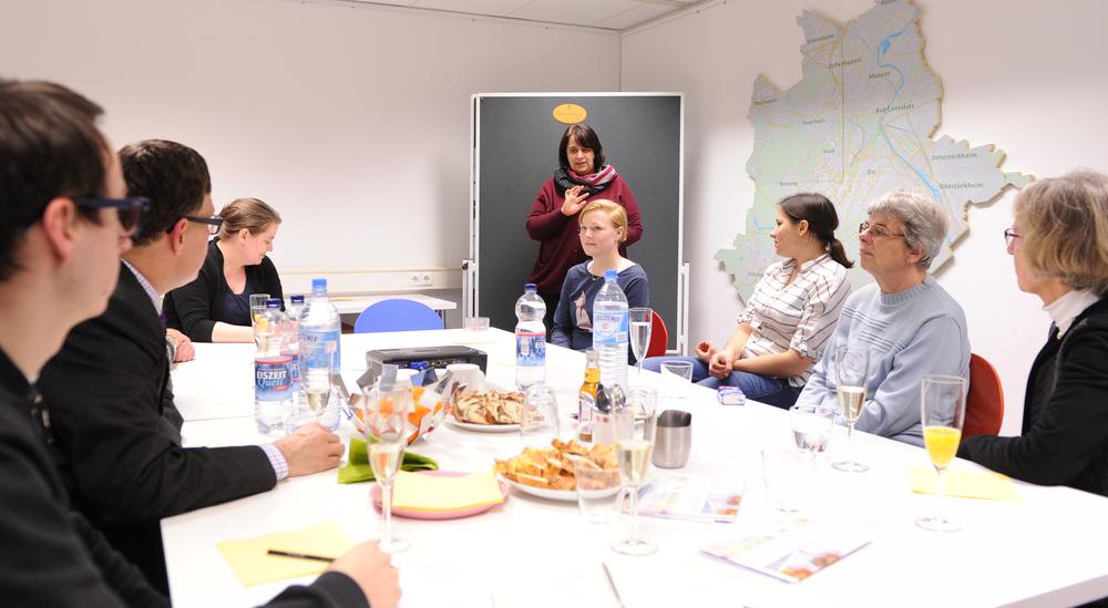 Treffen einer Arbeitsgruppe im Projektbüro der Bürgerstiftung Stuttgart