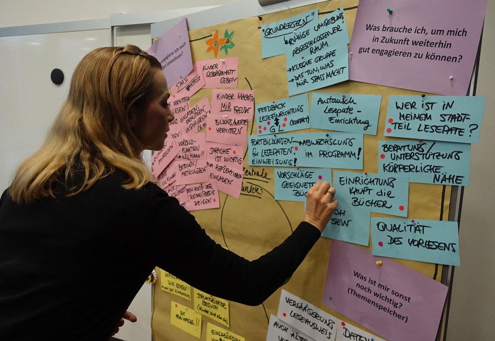 Die Teilnehmer markierten die für sie wichtigsten Themen.  (Foto: Jana Kegel)