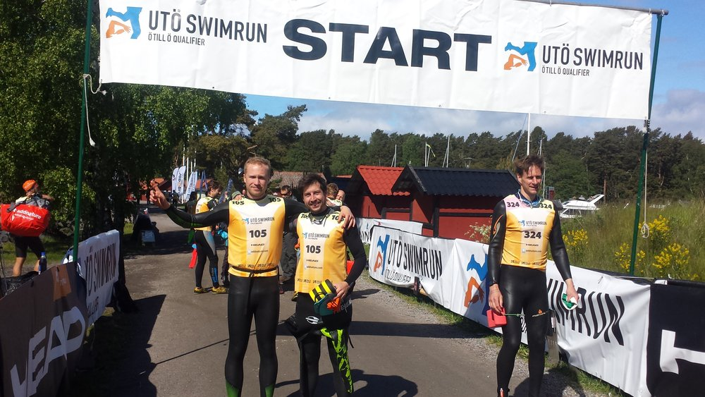 Tämä kuva samaten otettu vuonna 2015 Swimrunista Tukholmasta, jossa oli noin 30 kilsaa juoksua ja 4 kilsaa uintia.Mika on lähdössä matkaan hyvällä fiiliksellä, kuten kuvasta näkyy!