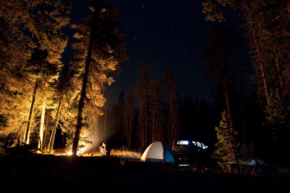 Aaron Chervenak Camping Night Stars Music Guitar Woods