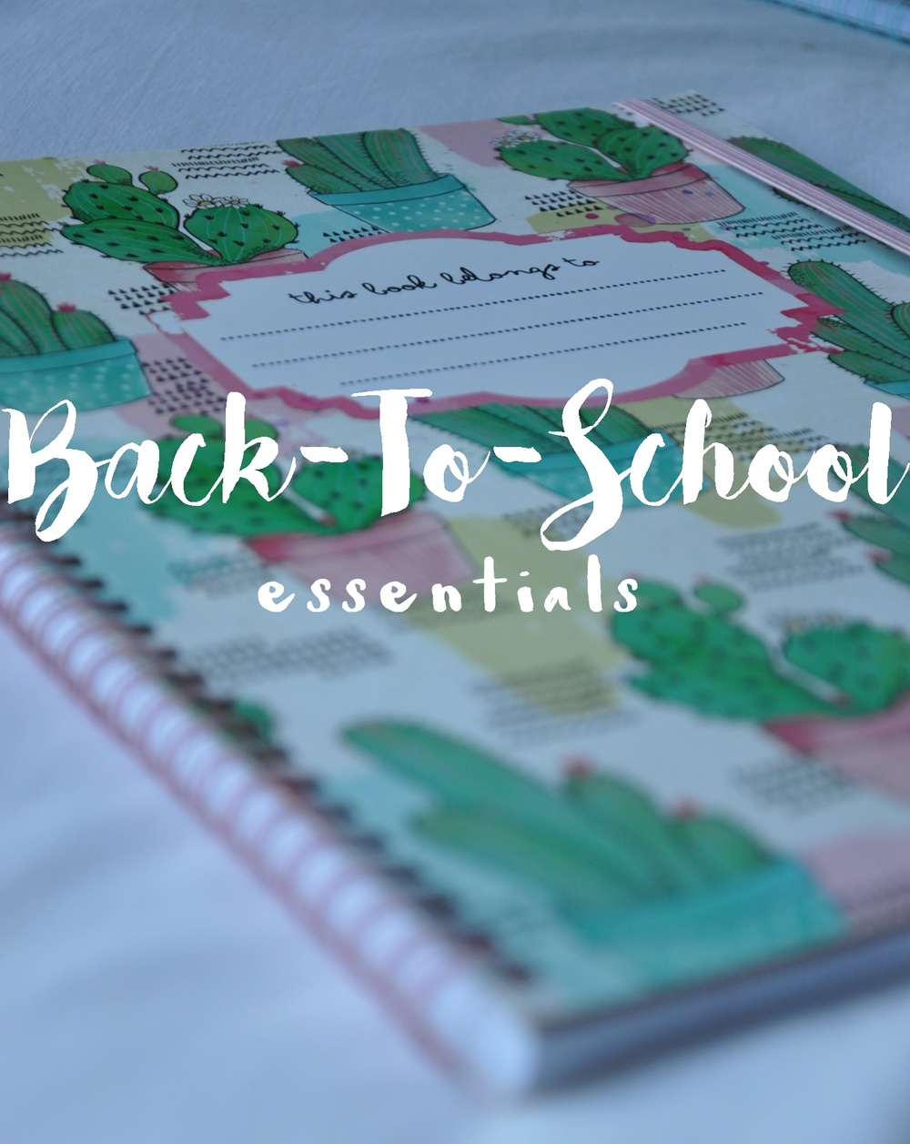 Back-To-School Essentials – All things you need for the new year and a fresh start at school. Includes school backpack, cute notebooks, stationery, waterbottle, cooler bag lunchbox, sticky notes, planner and pencil case. Darling ideas, succulents, woodland animals, birds and beautiful illustrations. A Lovely Space | alovelyspace.com
