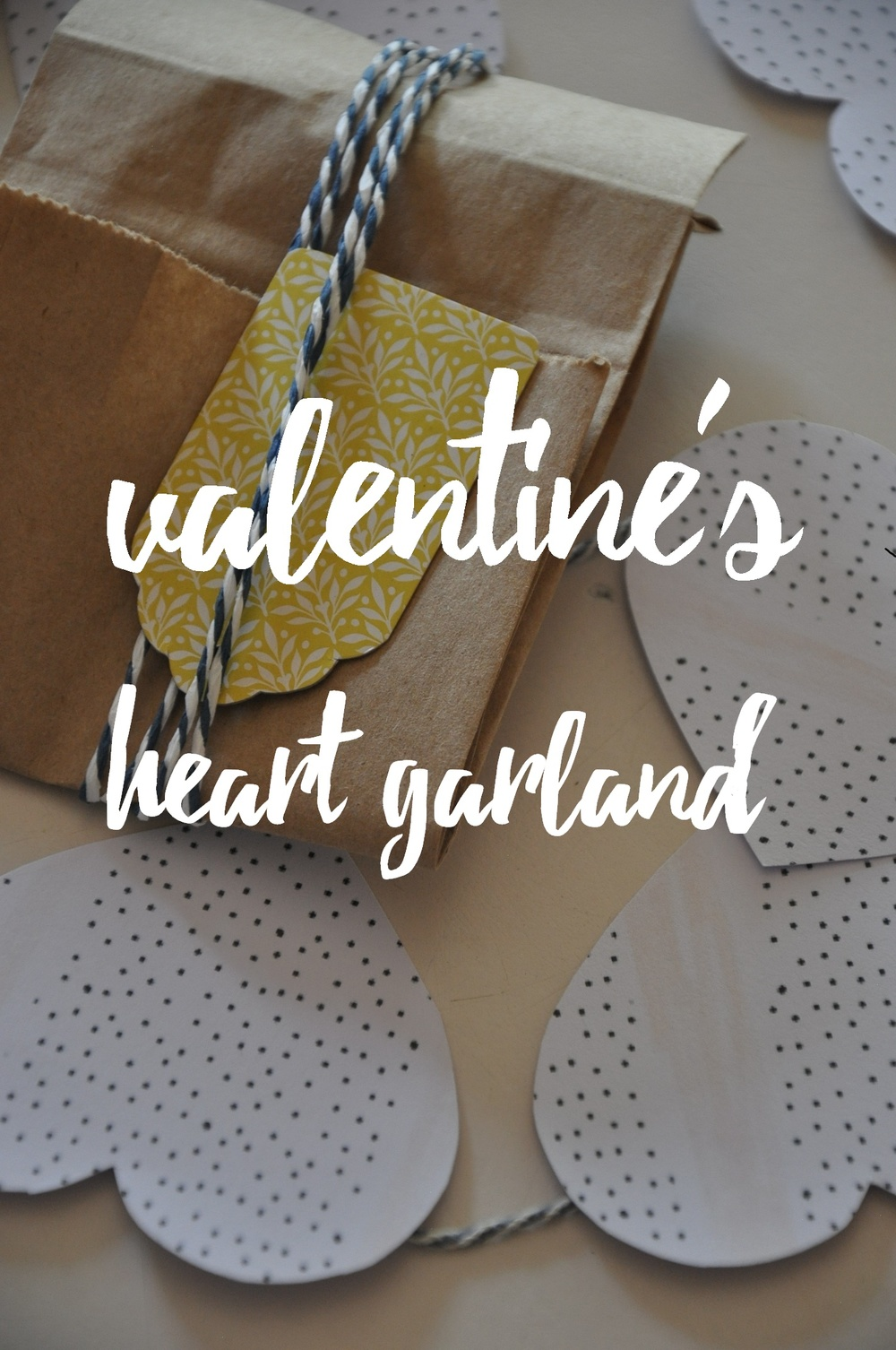 DIY Valentine's Heart Garland – How to make a simple, homemade, pretty heart shaped banner for Valentine's Day. Easy, creative, minimalist, decoration, darling, gift, present, sweetheart. A Lovely Space | alovelyspace.com