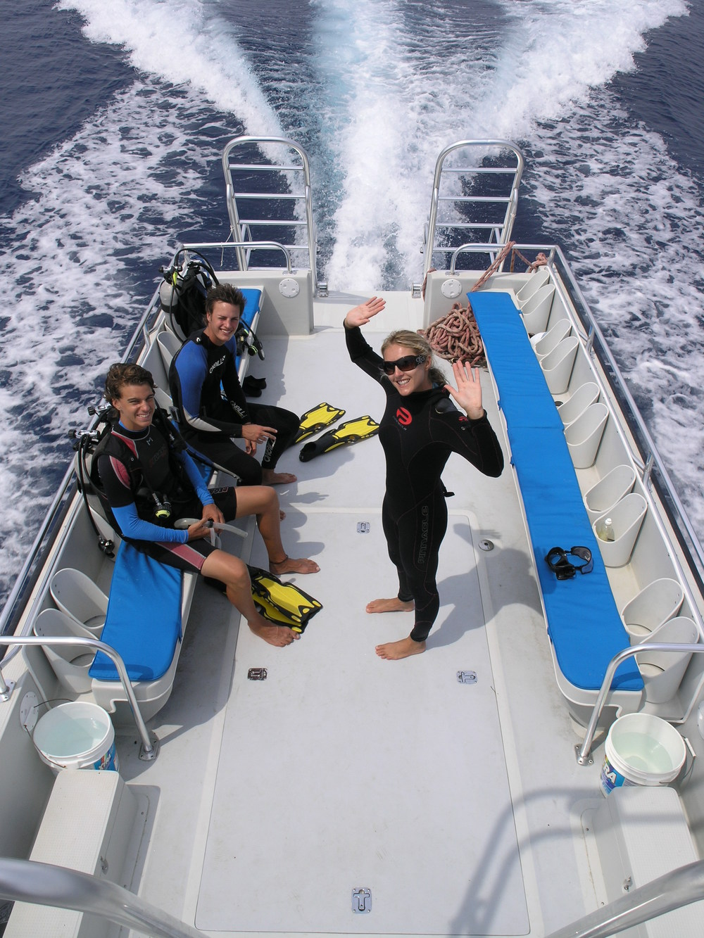 Learning to dive Roatan