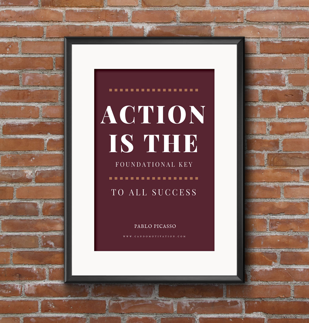 Action is the Foundational Key To All Success. Inspire with this Teen poster. available form our  store  - (We ship worldwide) or from  Amazon.co.uk