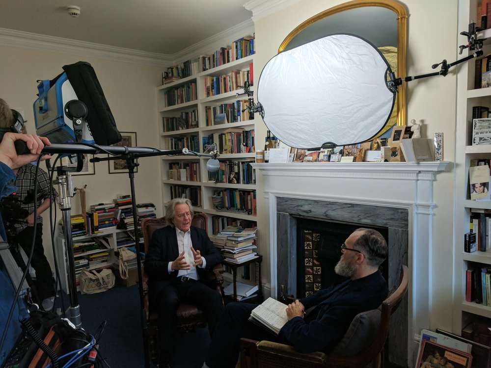 AC Grayling and David Nicolas Wilkinson, filming Postcards from the 48%