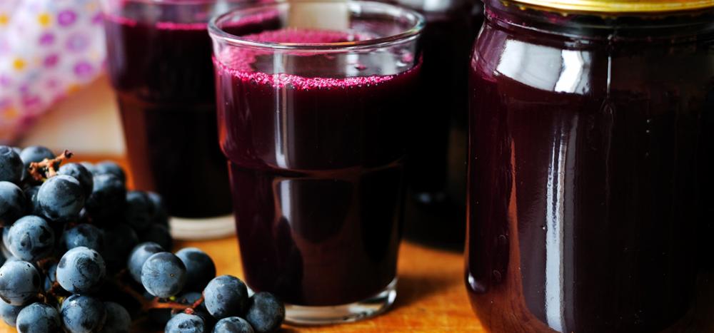 Suco de uva sem adição de açúcar