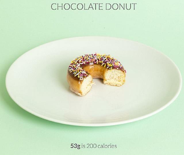 3/4 donuts =200 calorias