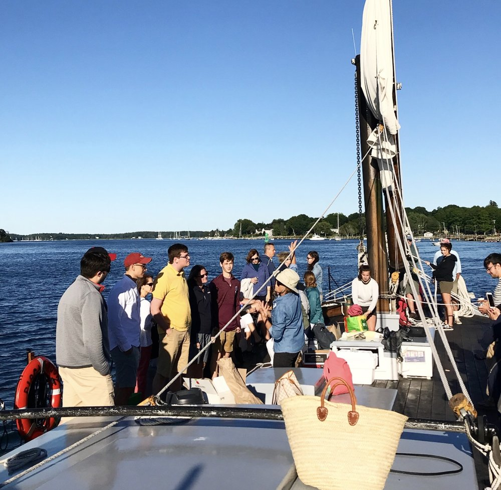 - On our recent trip, the Gundalow sailed along the Piscataqua River from its launch spot at Prescott Park, to New Castle Beach and back. The views of the coast of New Hampshire and Maine were absolutely stunning!