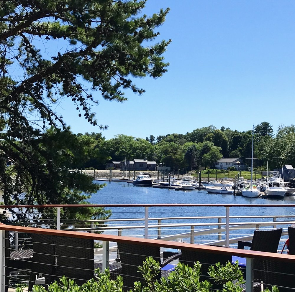 The views! - Is this real life?? Stunning views of the Kennebunkport River that can be seen from the deck of The Boathouse... Wow!