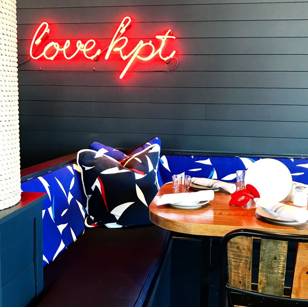 It's nautical-chic! - Beautiful inside and out! Trendy touch with the custom neon lights!