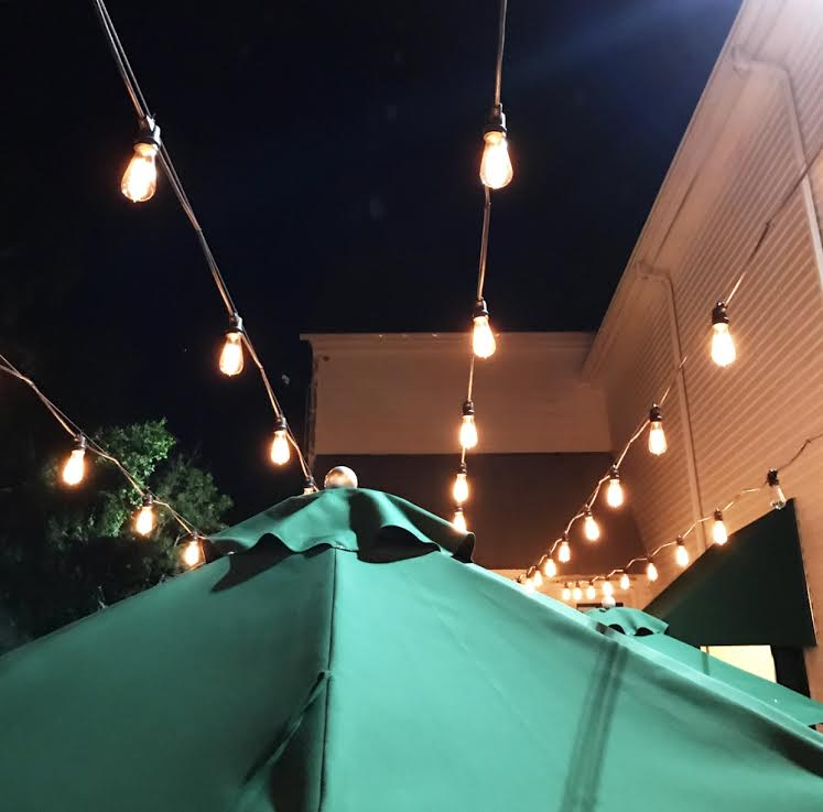 It's the little things - like twinkle lights on the patio at intermission... -