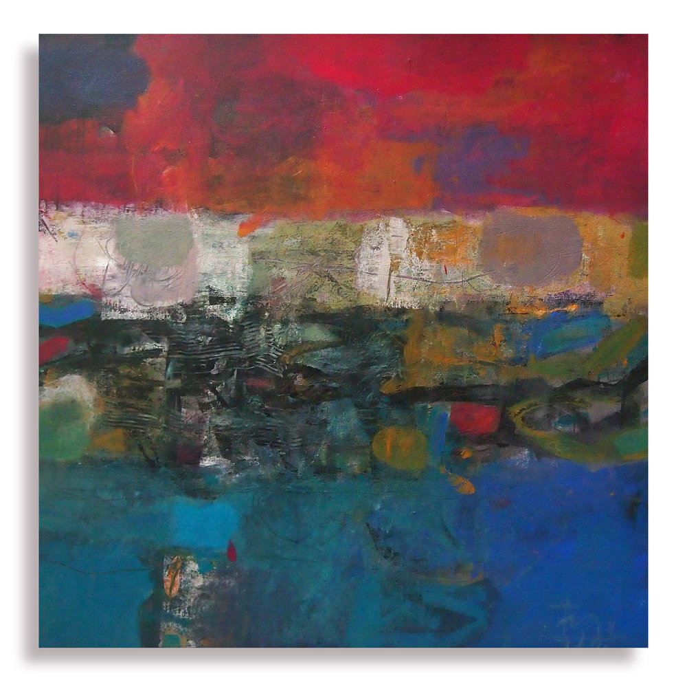 Senja, 2016, Mixed Media on Canvas, 77cm x 77cm.jpg