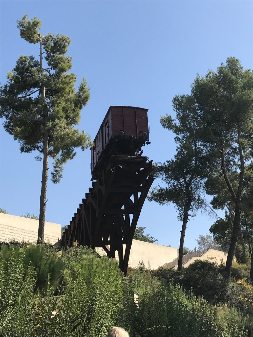 Remembering the Nightmare of the Transports in the Gardens of Yad Vashem