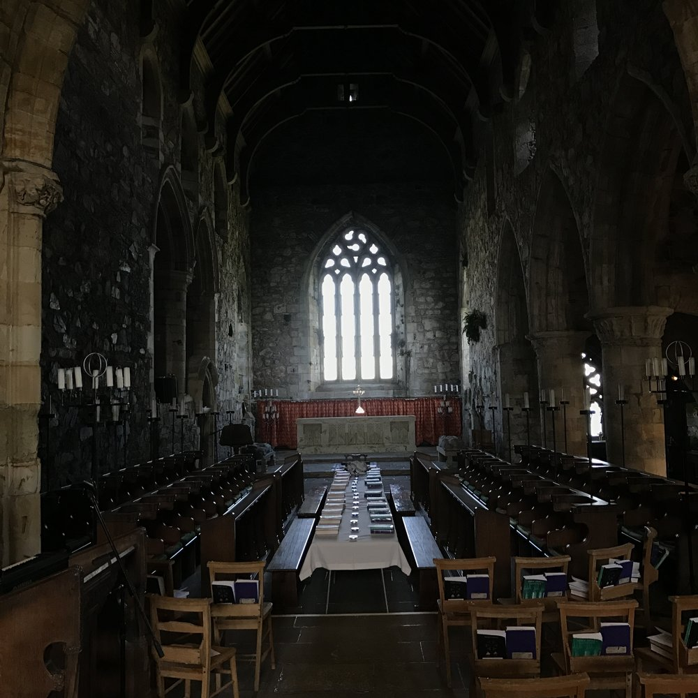 The View as you Enter the Abbey