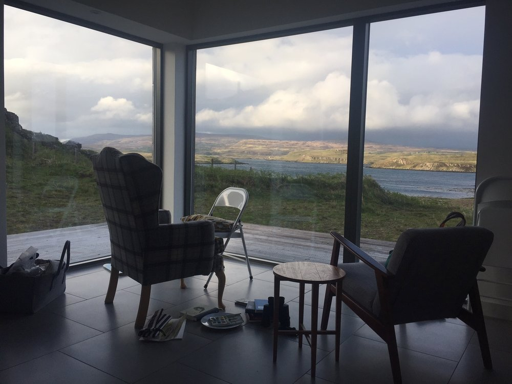 A cloudy Skye from our living room