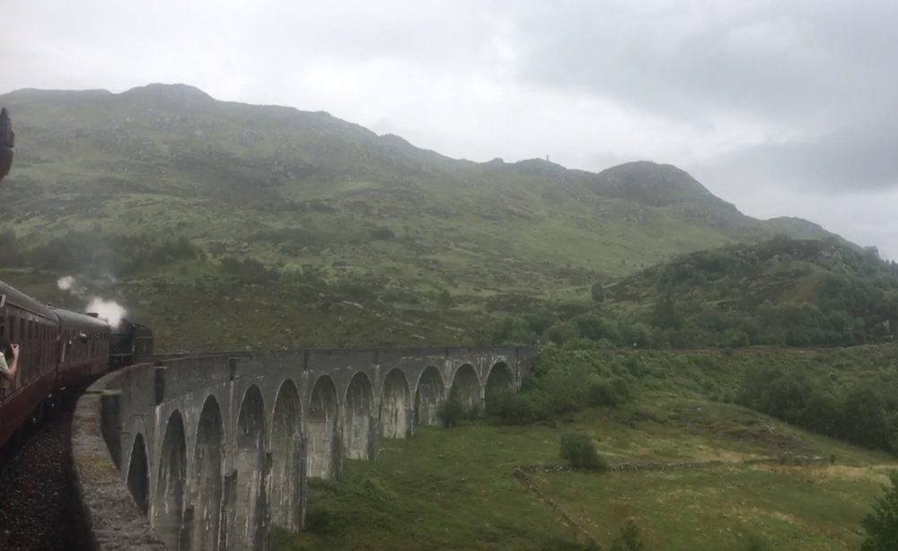 From our Train Ride across the Glenfinnan Viaduct