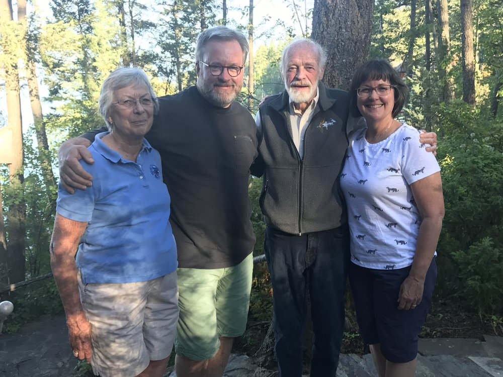 With our dear friends, Jan & Eugene Peterson.