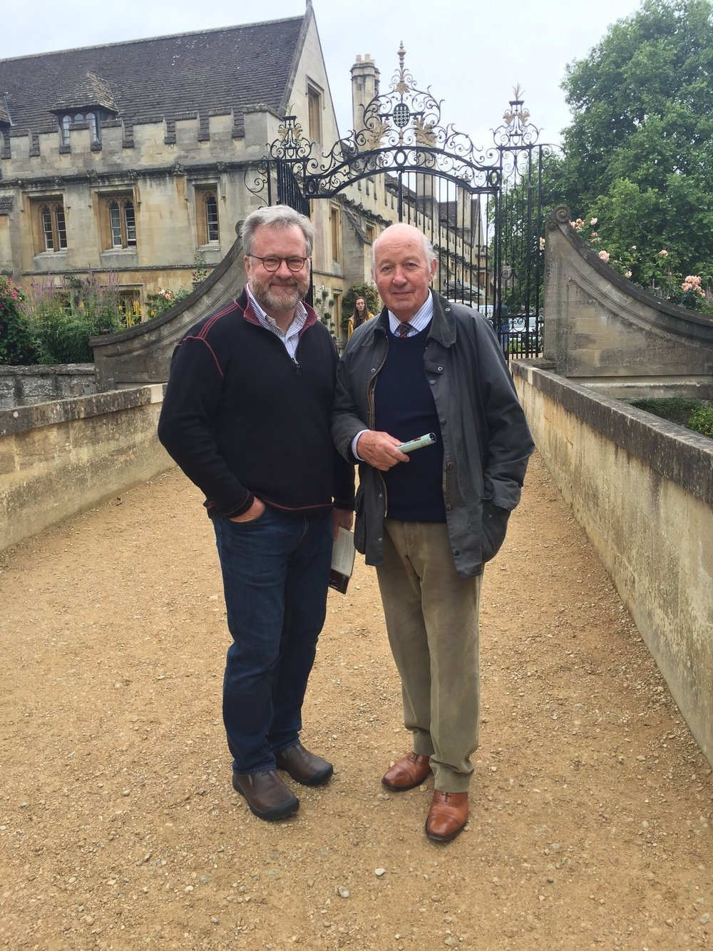 Our Oxford Guide, Tony Gregory: we rented his cottage while in Stow.